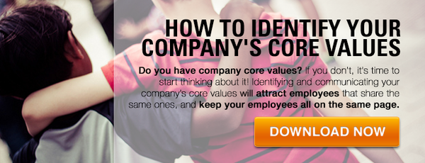 Core values list: How to identify your company's core values