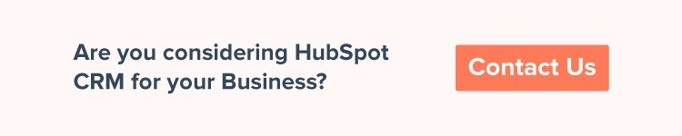 Contact us to know about HubSpot CRM