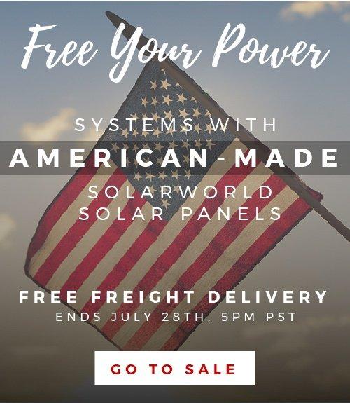 Free Shipping SolarWorld Sale