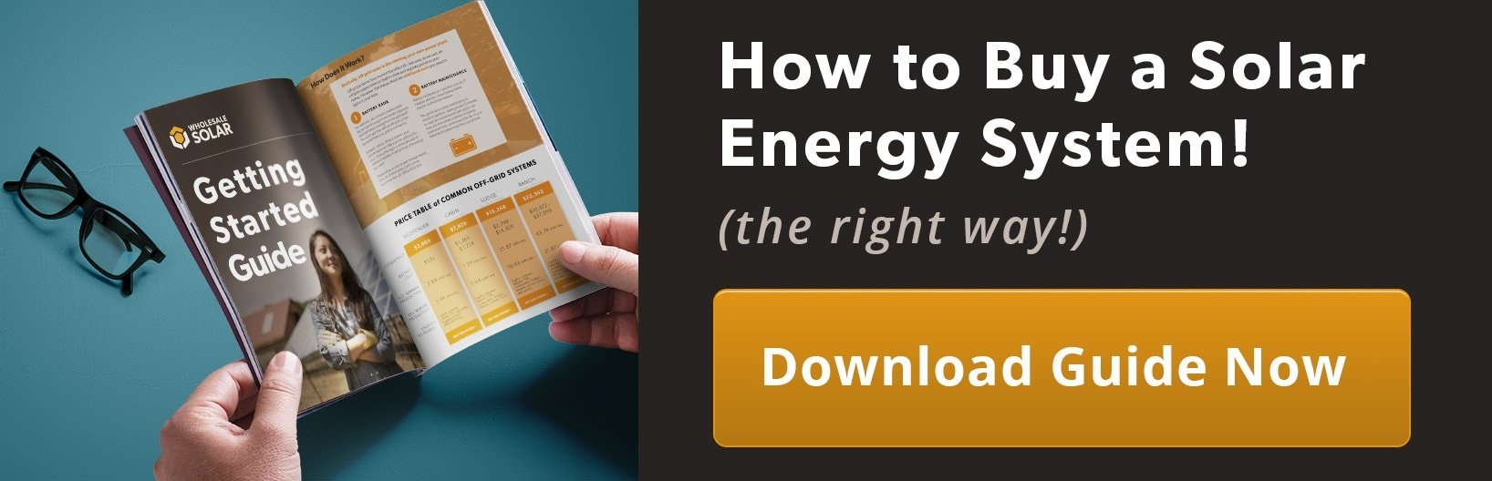 Click to download our guide to getting started with solar power