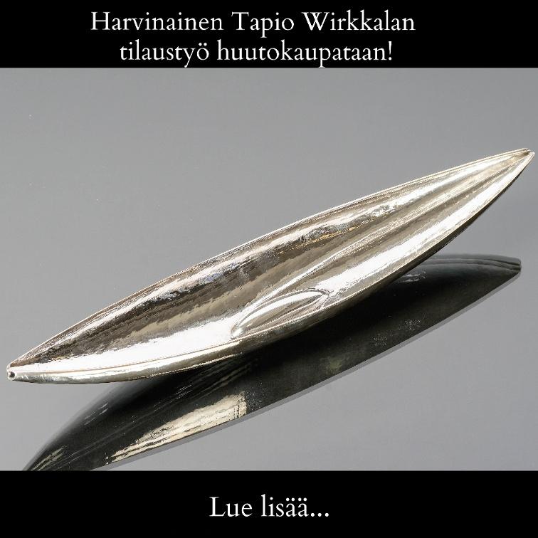 Harvinainen Tapio Wirkkalan tilaustyö huutokaupataan!