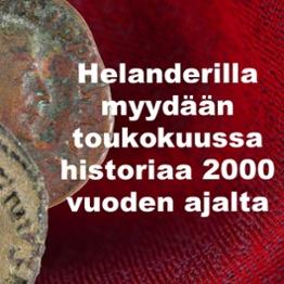 Helanderilla myydään toukokuussa historiaa 2000 vuoden ajalta