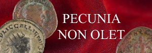 Pecunia non olet, roomalaisia kolikoita