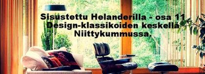 Sisustettu Helanderilla: Design-klassikoiden keskellä Niittykummussa.
