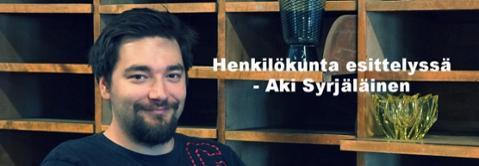 Henkilökunta esittelyssä Aki Syrjäläinen