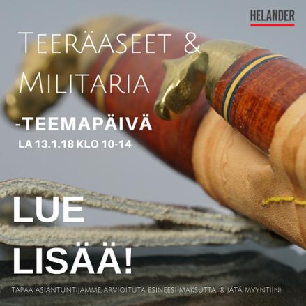 Teräaseet & Militaria teemapäivä tavaran vastaanotossa! Lue lisää.