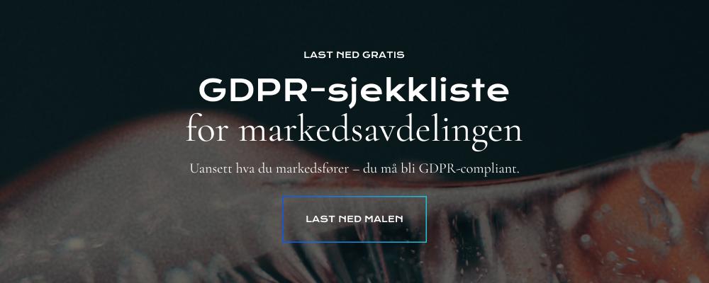 Last ned GDPR sjekkliste for markedsavdelingen