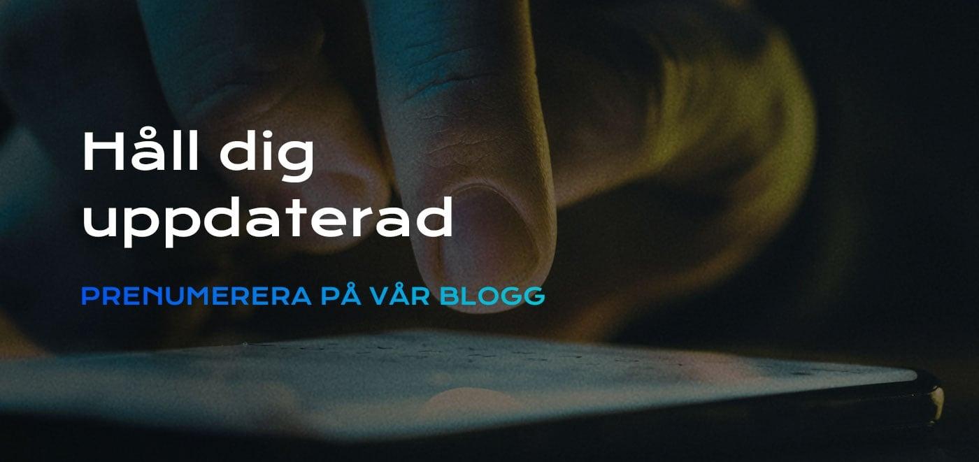PRENUMERERA PÅ VÅR BLOGG