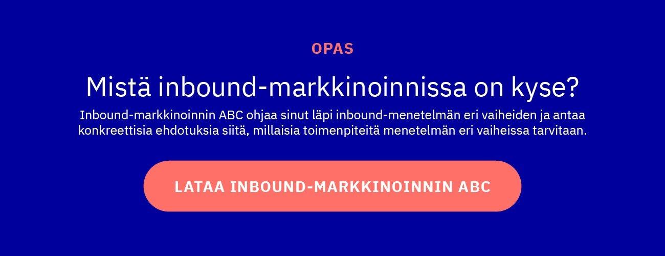 Lataa inbound-markkinoinnin ABC -opas