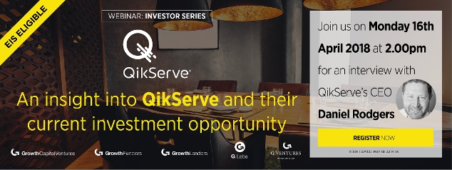 Join us for our next webinar - an interview with QikServe's CEO Daniel Rodgers on Monday 16th April 2018