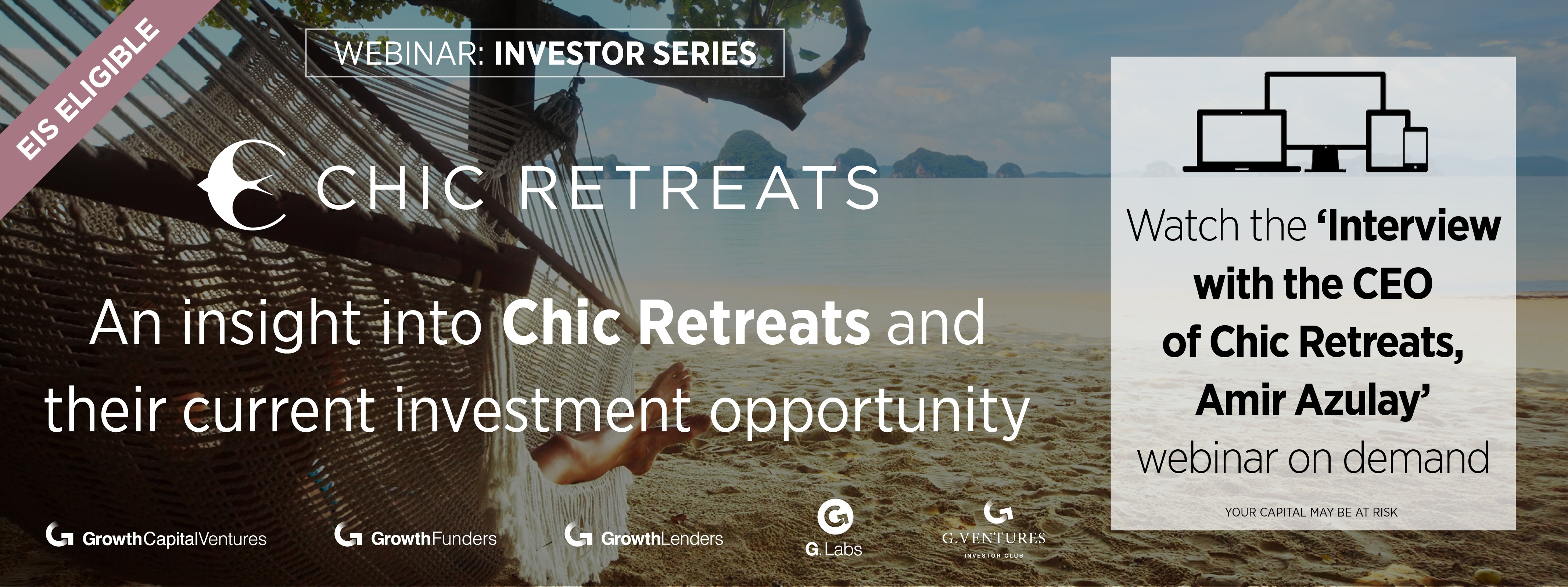 Watch our webinar with Amir Azulay, CEO of Chic Retreats