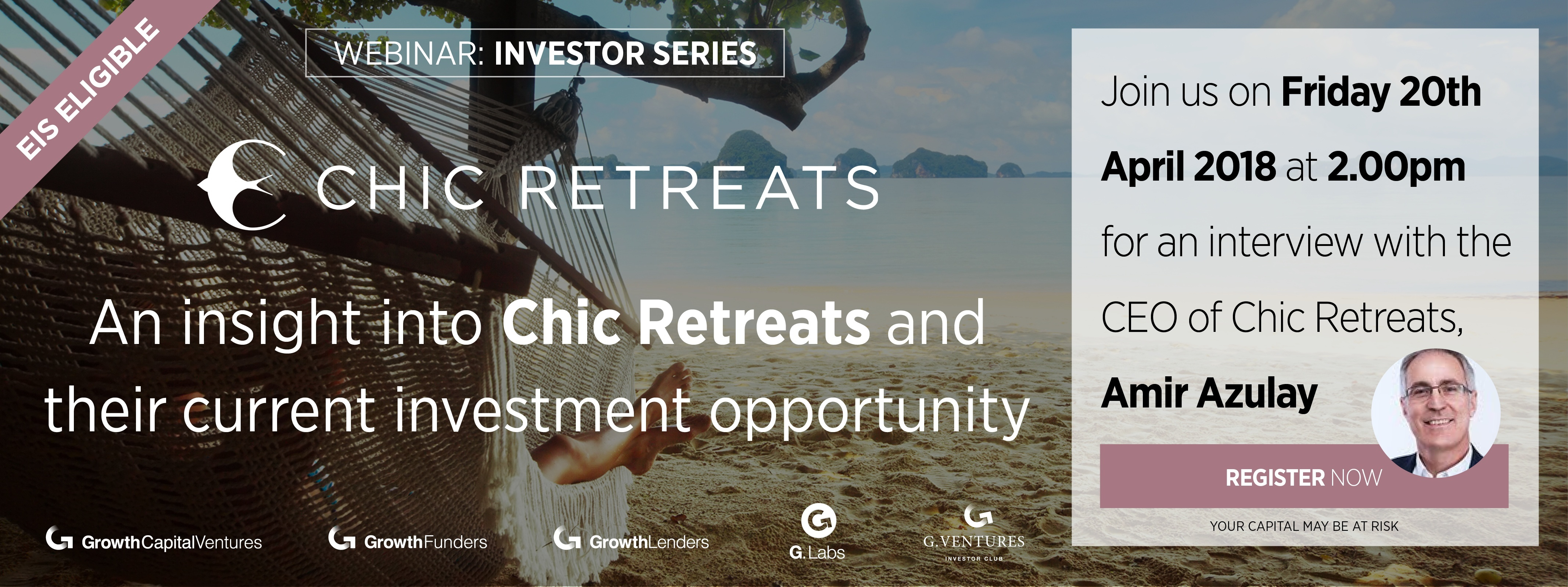 Just for our webinar with Amir Azulay, CEO of Chic Retreats