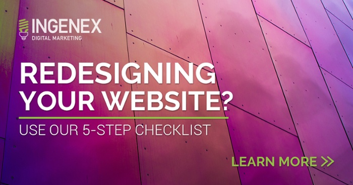 Download our 5 step checklist to redesigning your website