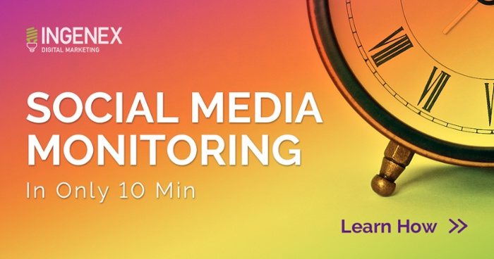 social media monitoring taking too long? Download our ebook on how to do it in 10 minutes a day