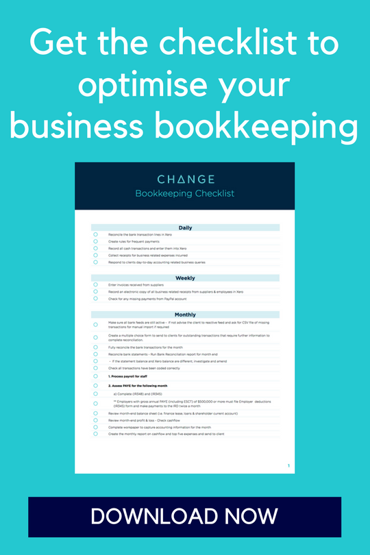 The DIY Bookkeeping Checklist for your Business