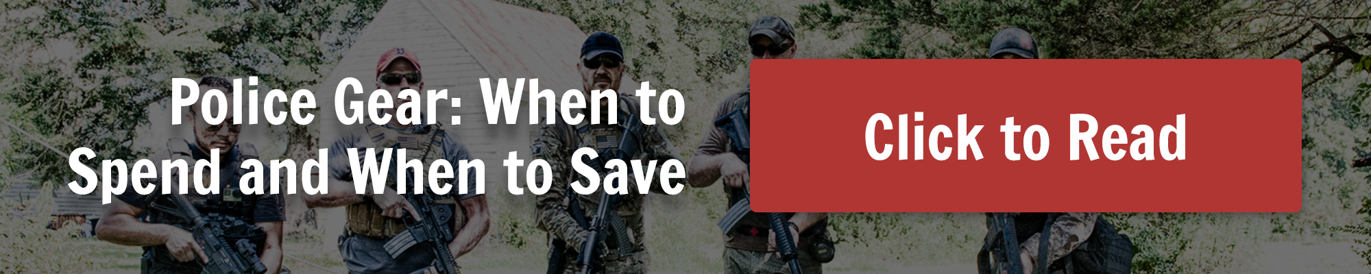 When to save or spend on police tactical gear