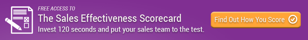 The Sales Effectiveness Scorecard. Invest 120 seconds and put your sales team to the test.