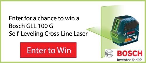 Bosch Self-Leveling Cross-Line Laser Giveaway