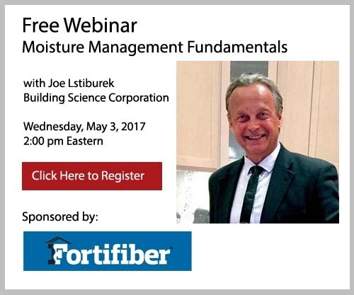 Register for Free Webinar on Moisture Management