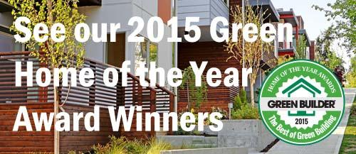 2015 Green Home of the Year Winners