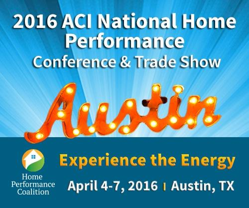 2016 ACI National Home Performance