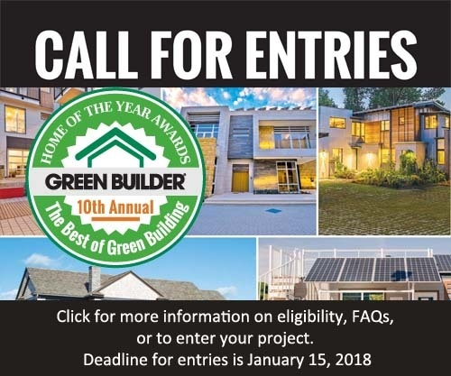 10th Annual Green Home of the Year Call or Entries