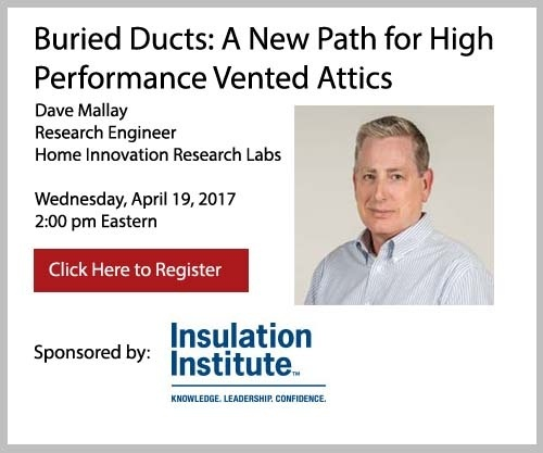 Buried Ducts: A New Path for High Performance Vented Attics