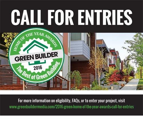 2016 Green Home of the Year Call for Entries