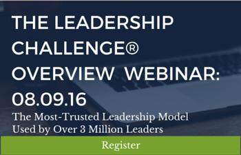 Register for The Leadership Challenge Webinar