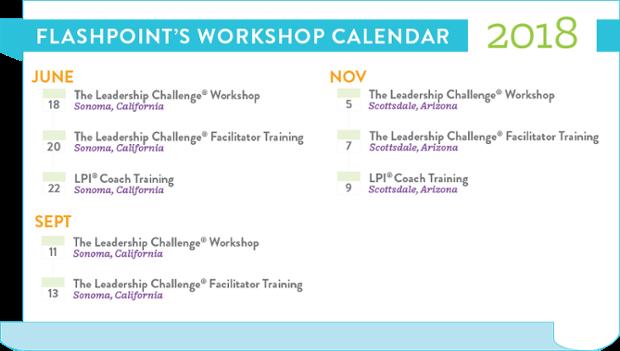 FlashPoint's 2018 Workshop Calendar