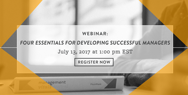 4 Essentials for Developing Successful Managers Webinar