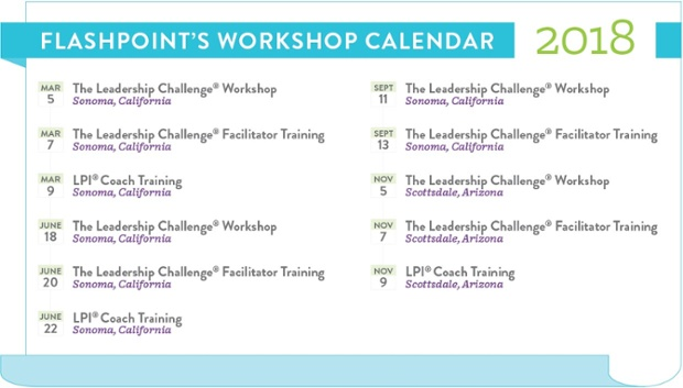 2018 Workshop Calendar