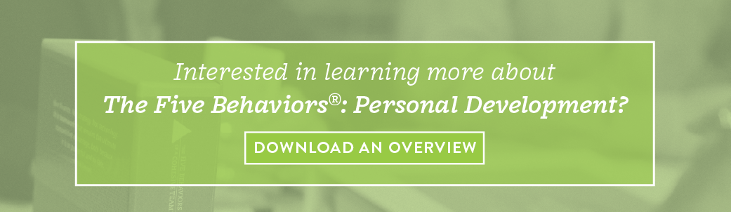 Download an Overview of The Five Behaviors Personal Development