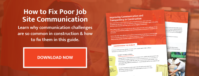 How to Fix Poor Job Site Communication