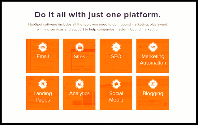 HubSpot's Featured Tools Captured from their Website