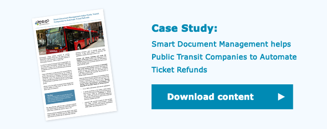 Smart Document Management helps Public Transit Companies to Automate Ticket Refunds