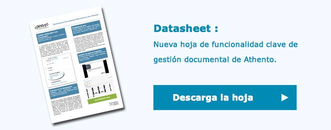 Descargar la hoja de funcionalidad clave de gestión documental con Athento
