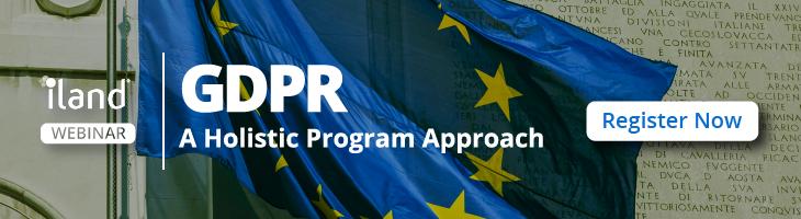 GDPR A Holistic Program Approach