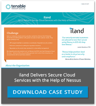 iland delivers secure cloud services with the help of nessus