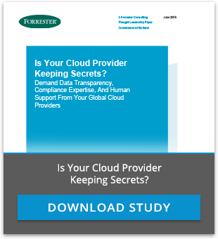 Forrester Study: Is Your Cloud Provider Keeping Secrets?