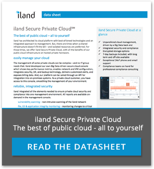 iland secure private cloud datasheet
