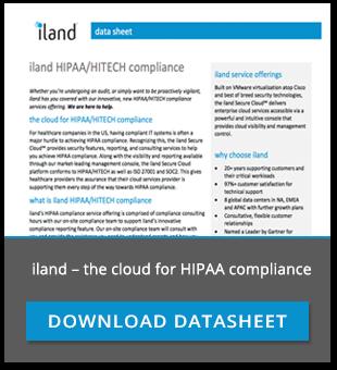 iland hipaa compliant cloud hosting datasheet