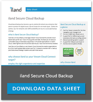 Download iland Secure Cloud Backup Datasheet
