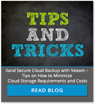 iland Secure Cloud Backup with Veeam tips and tricks