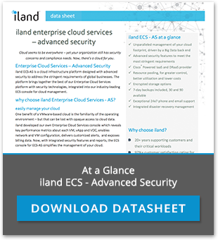 At a Glance, iland ECS - Advanced Security