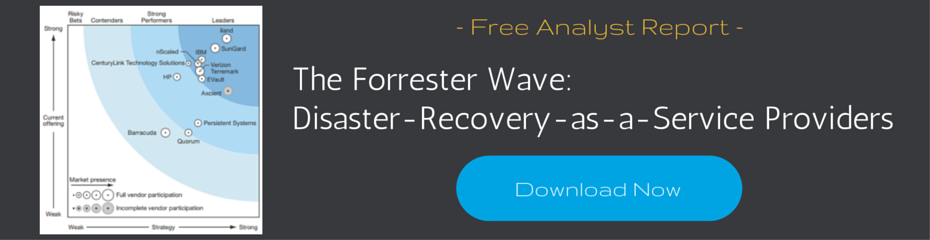 Download DRaaS Forrester Wave