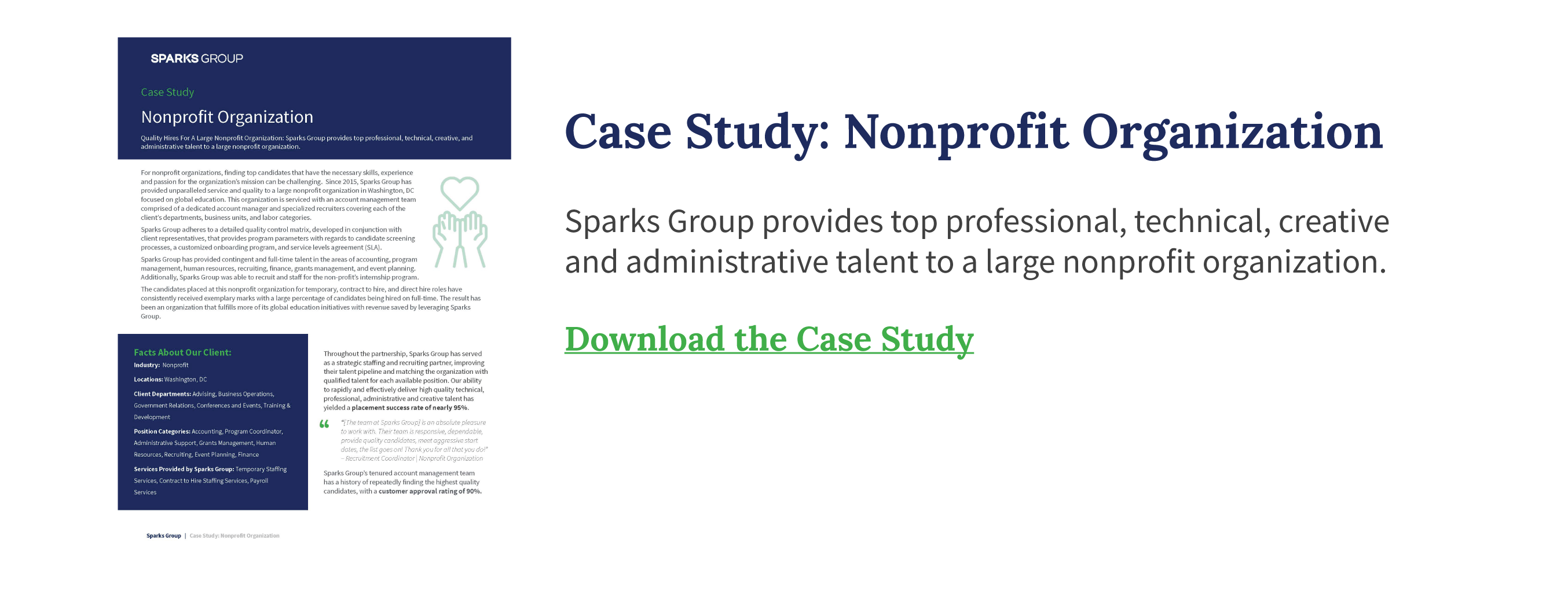 Case study: nonprofit organization