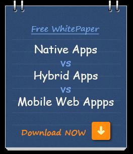 Native mobile app, hybrid mobile app, mobile web apps