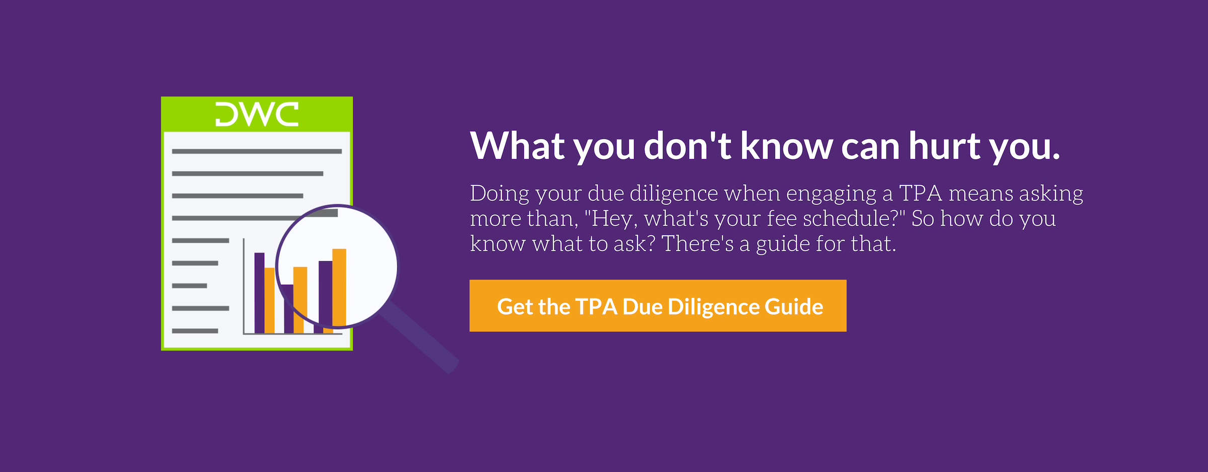Download DWC's TPA Due Diligence Guide Here