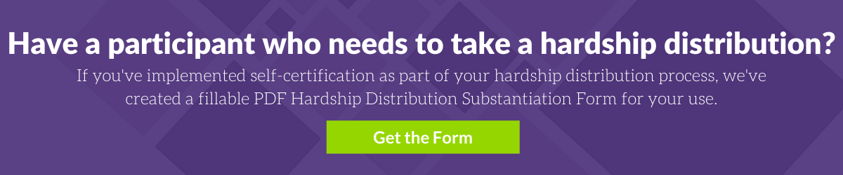 Download DWC's Hardship Distribution Substantiation Form Here